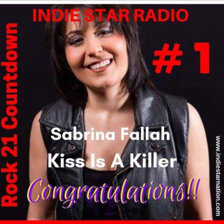 "Sabrina Fallah – ""Kiss Is a Killer "" won #1 on Indie Star Radio"