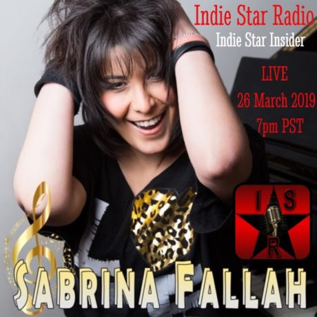 Sabrina Fallah – Interview with Alan on Indie Star Radio