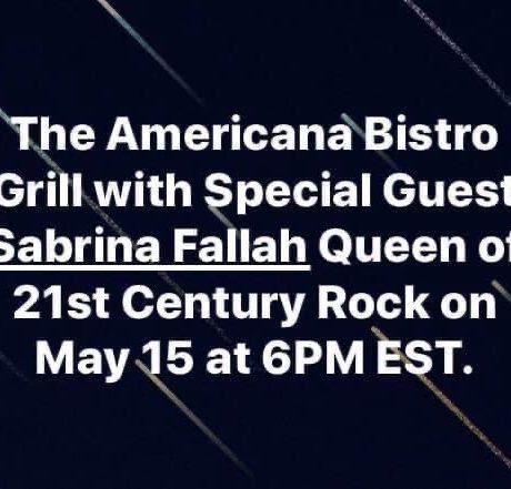Sabrina Fallah – Interview with Roberto C. Alvarez – Galloso on The Americana Bistro Grill